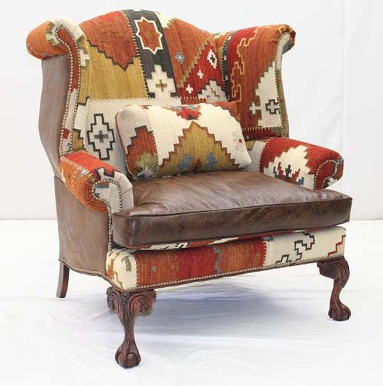 Wolf Creek Pass Wing Back Chair Old Hickory Tannery Furniture