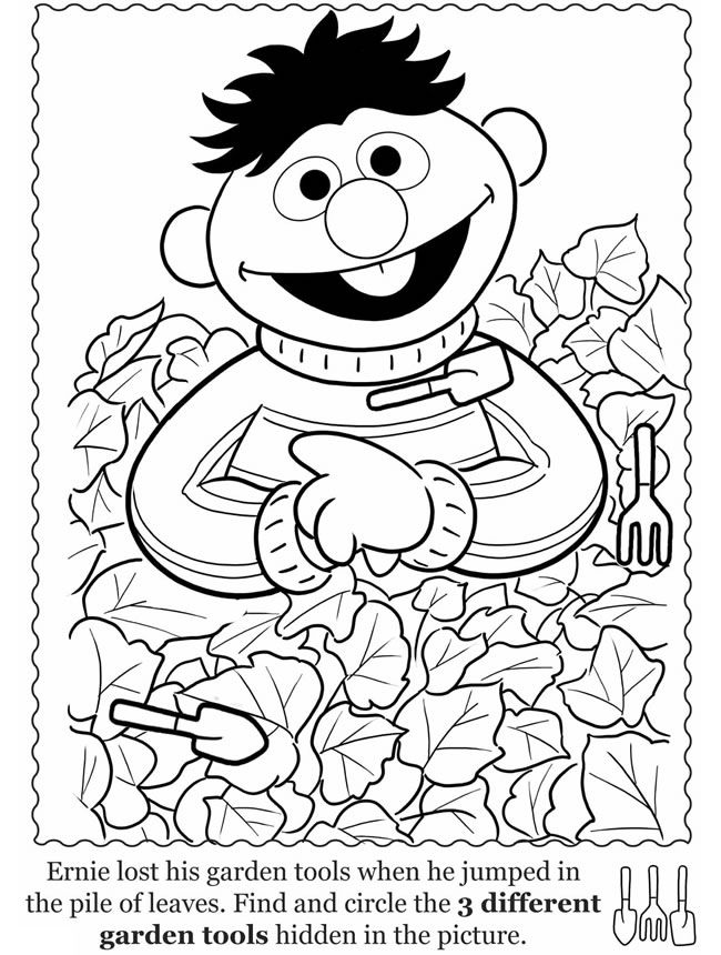 Ernie coloring page, Sesame Street: inkspired musings: Time to play ...