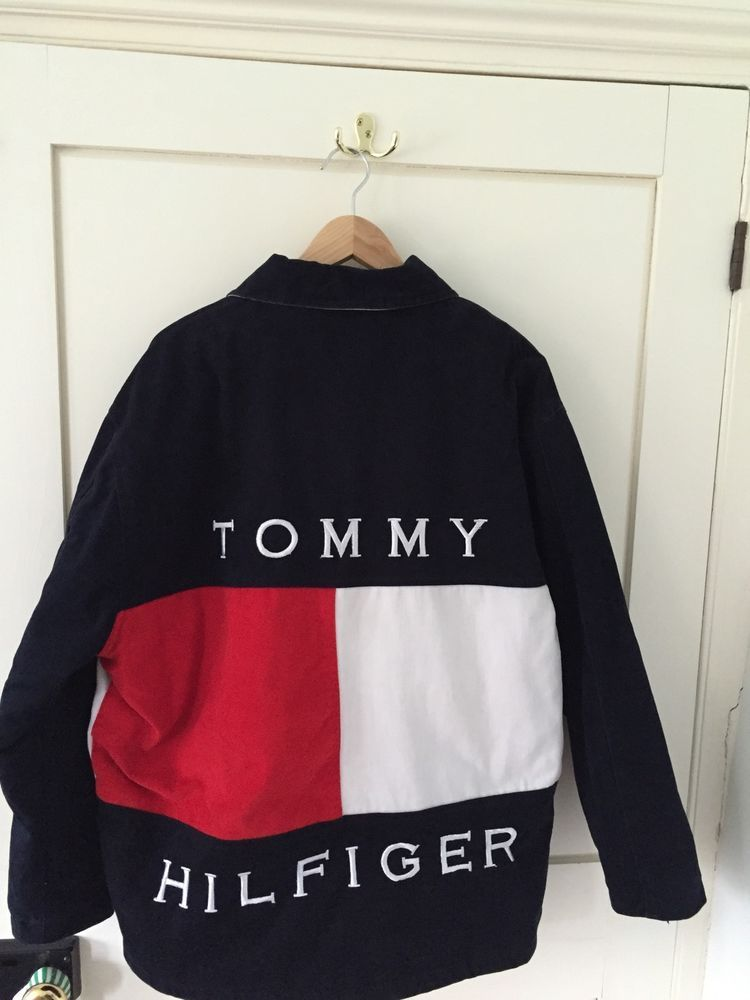 Tommy Hilfiger Vinatge Retro Quilted Jacket Large Tommy