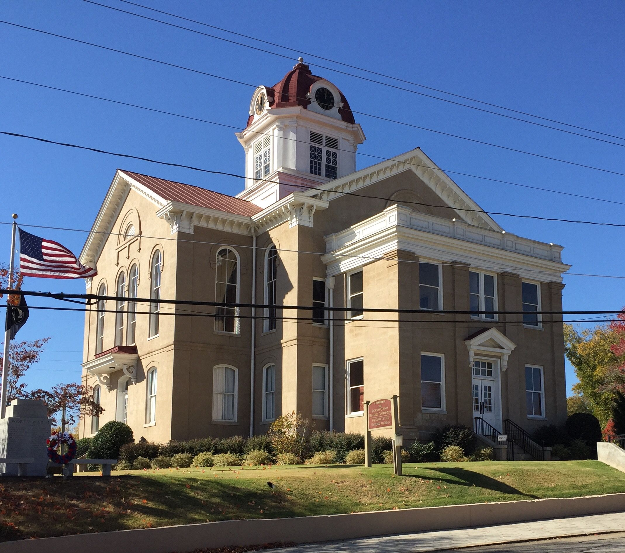 Historic Jackson County Courthouse in Jefferson,