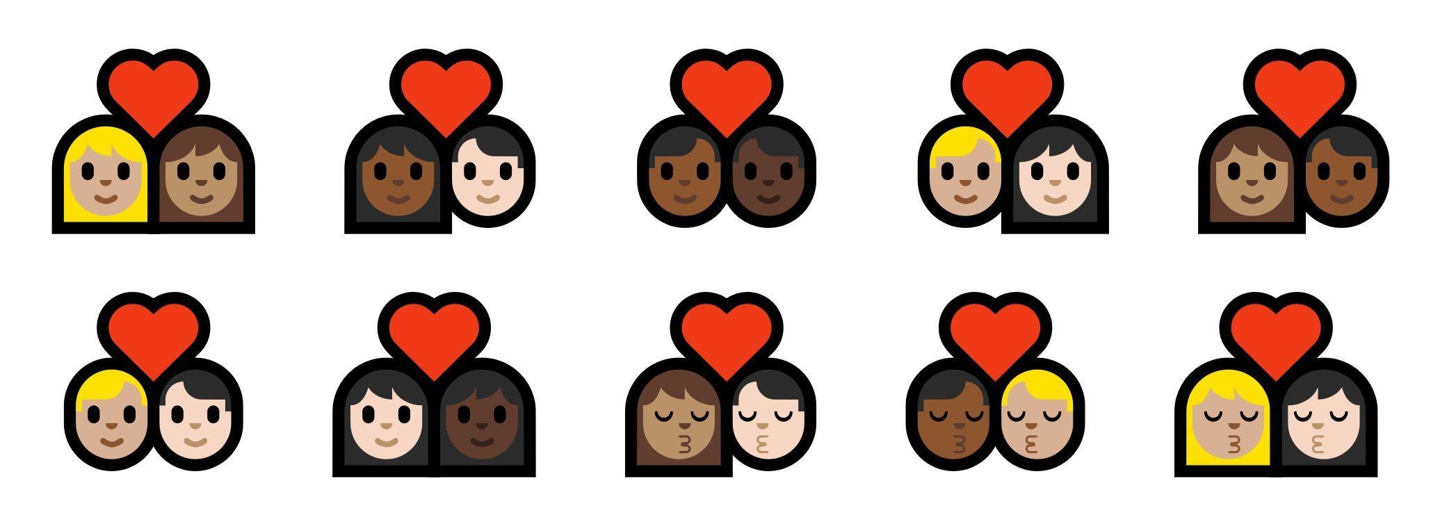 New Interracial Couple Emoji Coming To Windows Emoji Couples Emoji Interracial Couples