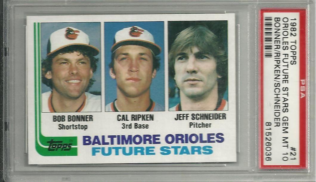 1982 topps baseball 21 cal ripken jr orioles psa 10 gem