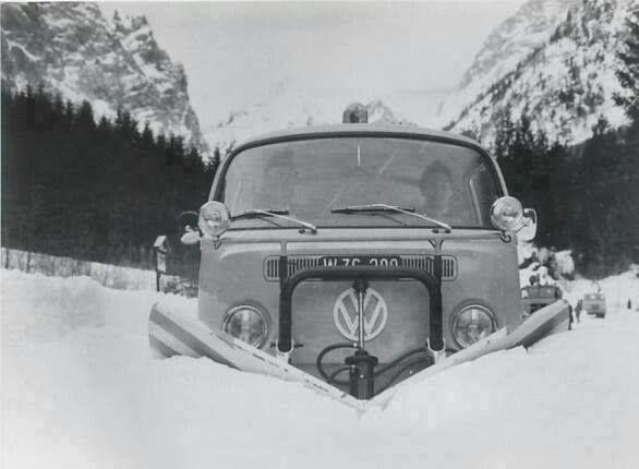 Vw Typ 2 Pala De Nieve Kdf Wagen Vw Bus Volkswagen Transporter