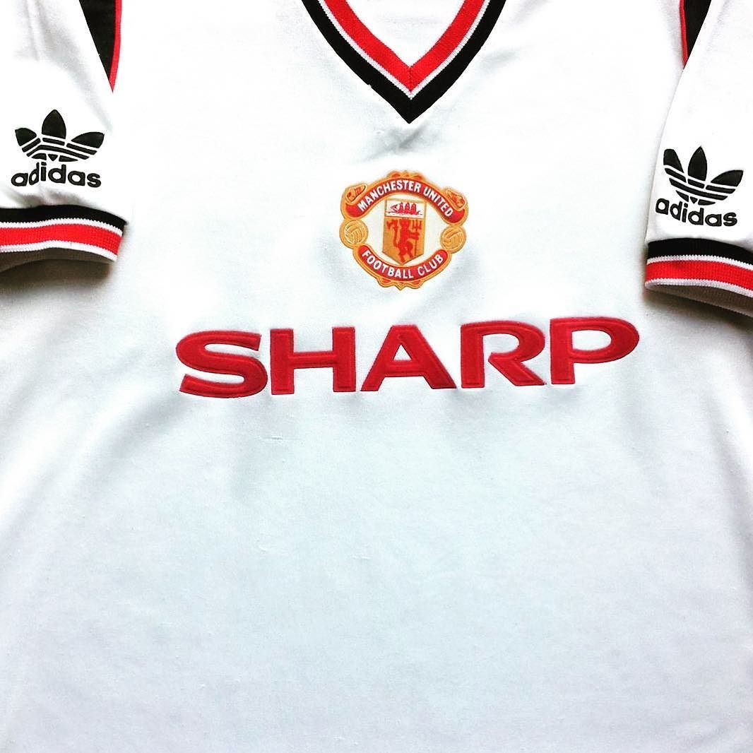 17b095e22b9 1984 85 Man Utd Away Shirt (S) - class United shirt from  classic11shirts  get yours in store  manchesterunited  united  adidas   footballshirtcollective