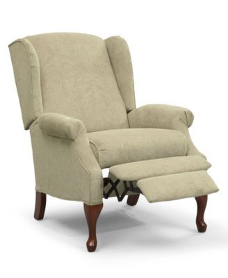 Genial Andy Recliner Chair, Queen Anne Style