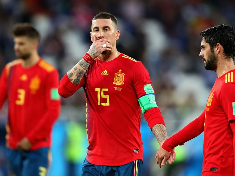 Soccer World Cup 2018: Spain defending not the way forward admits Fernando Hierro in error-strewn campaign - La Roja booked a last-16 spot at World Cup 2018 as winners of Group B but their manager admits there are things to correct before they face Russia Spain boss Fernando Hierro admitted to concerns about his sides defending following the 2-2 draw with Morocco that sealed their place in the last 16. An injury-time equaliser from Iago Aspas snatched a point for the 2010 world champions and Irans late leveller against Portugal meant La Roja finished top of Group B despite winning only one of their three games. They twice fell behind in Kaliningrad with Khalid Boutaib capitalising on a defensive mix-up to open the scoring and Youssef En-Nesyri heading in from a corner after Isco had initially brought Spain level. Related Hierro is happy to have won the group but having watched his side concede three against Portugal in their first match he admitted that their defensive play is not the way forward. We said this would be a tough match he told a news conference. We knew full well Morocco would fight they have an excellent team they only lost their two games 1-0 when they deserved much more. The first conclusion I draw is that despite all these challenges we were on top so I need to look at the silver lining. Obviously there are things we need to improve and were going to be self-critical. Five goals in three matches is not the way forward and its what Ive told my players. Theyre professionals they understand the situation. Despite his demand for improvement Hierro refused to pin any individual blame on centre-backs Gerard Pique and Sergio Ramos who looked vulnerable for much of the match. I assess the entire team not individuals he said. I keep those in-house. In a public forum I talk about how we can improve as a team as a whole. Hierro was only placed in charge on the eve of the tournament after Julen Lopetegui was sacked for negotiating a deal to take over at Real M