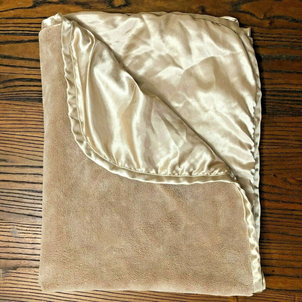 Couch 108x90 - Tan Warm for Bed Camping Cozy Ultra Soft Beach Sofa Luxury Solid King Fleece Blanket or Throw