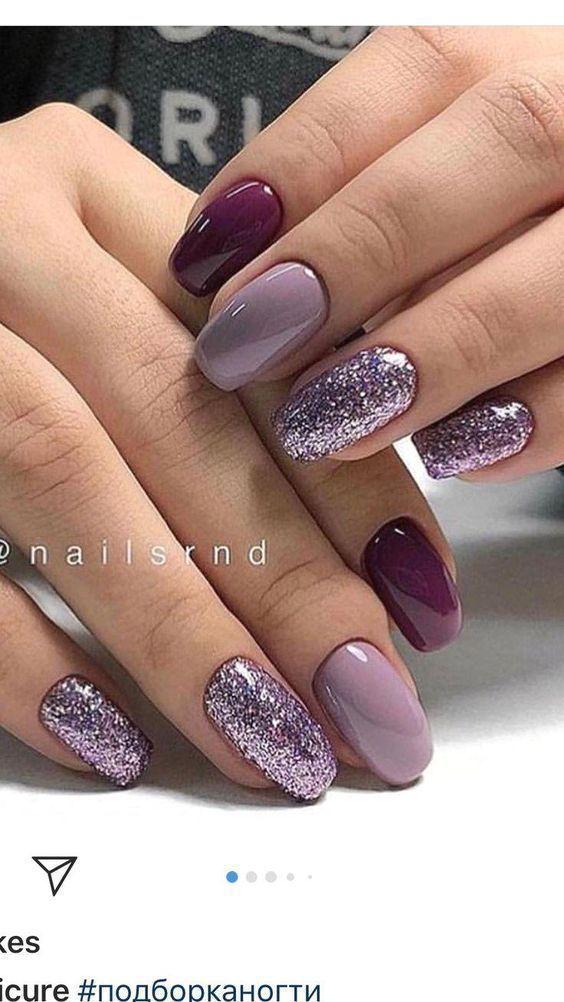 38 Pretty French Nails Uñas navideñas y de invierno Variedad de diseños Ideas – 38 pr … – Luisa Eskens  – Boda fotos