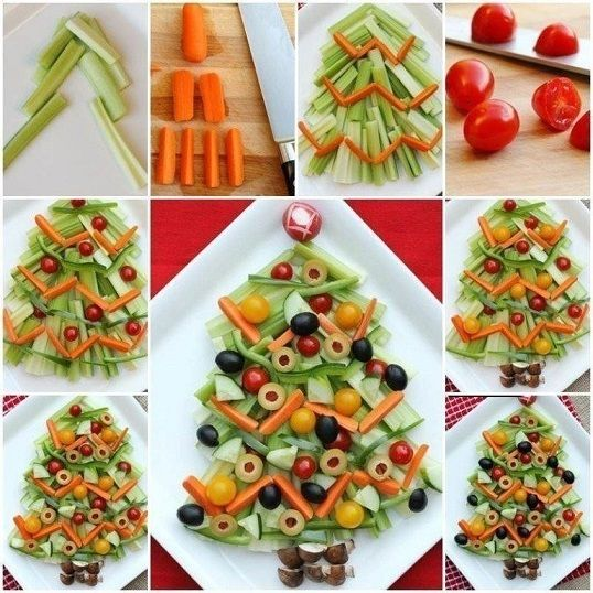 6 dining table decoration ideas for christmas with fruits vegetables and sweets