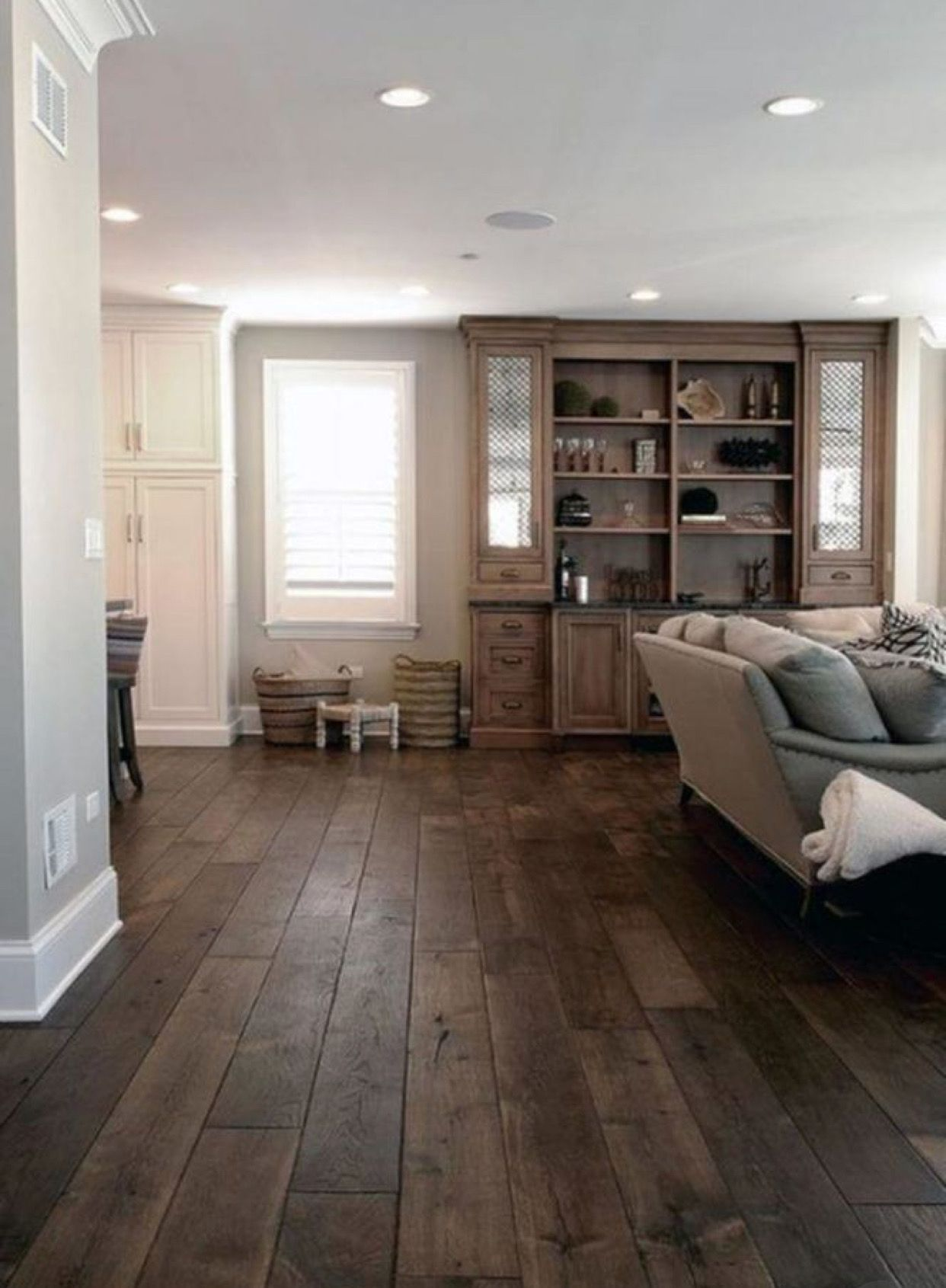Going For The Dark Wood Flooring And Light Walls In The Grafton