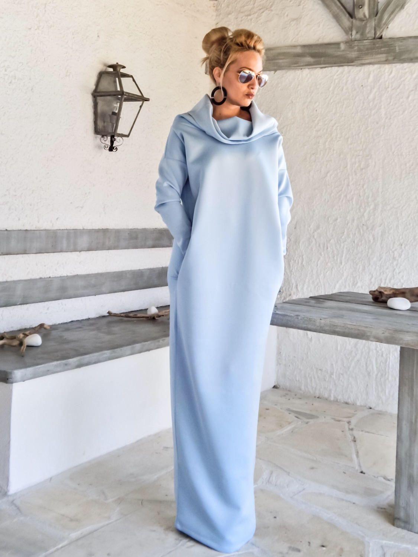 Neoprene Maxi Dress Long Sleeve Dress Materinity Dress Etsy Baby Blue Maxi Dress Maxi Dress Blue Maxi Dress [ 1500 x 1125 Pixel ]