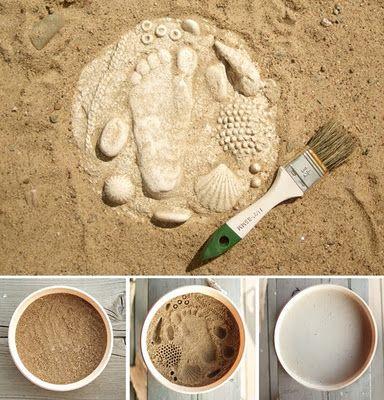 but with cement Hand/Feet crafts Pinterest En casa