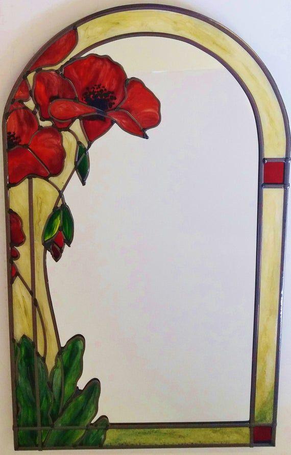 Art Nouveau Inspired California Poppy By Mason Larose: Poppies Decorative Mirror