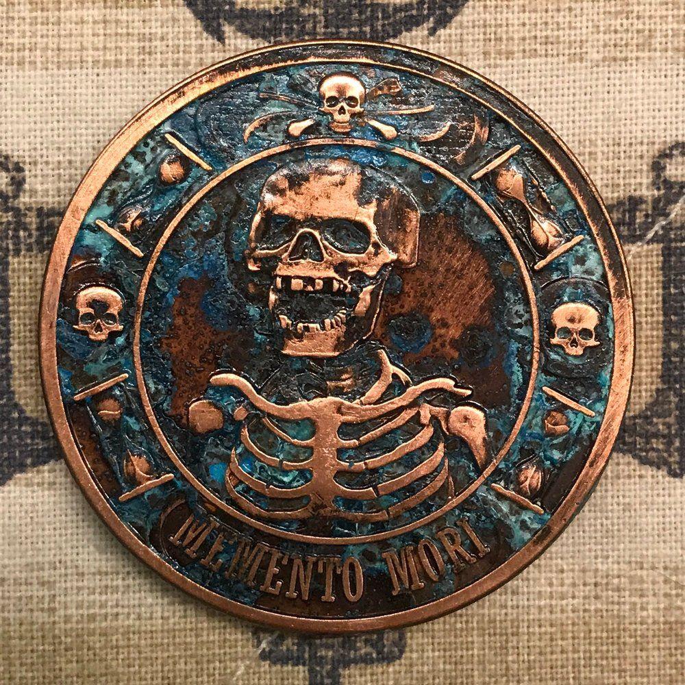 Memento Mori copper challenge coin | Challenge coins in 2019