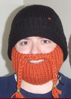 Bearded Beanie knitted Pattern Free in 2020 | Crocheted ...