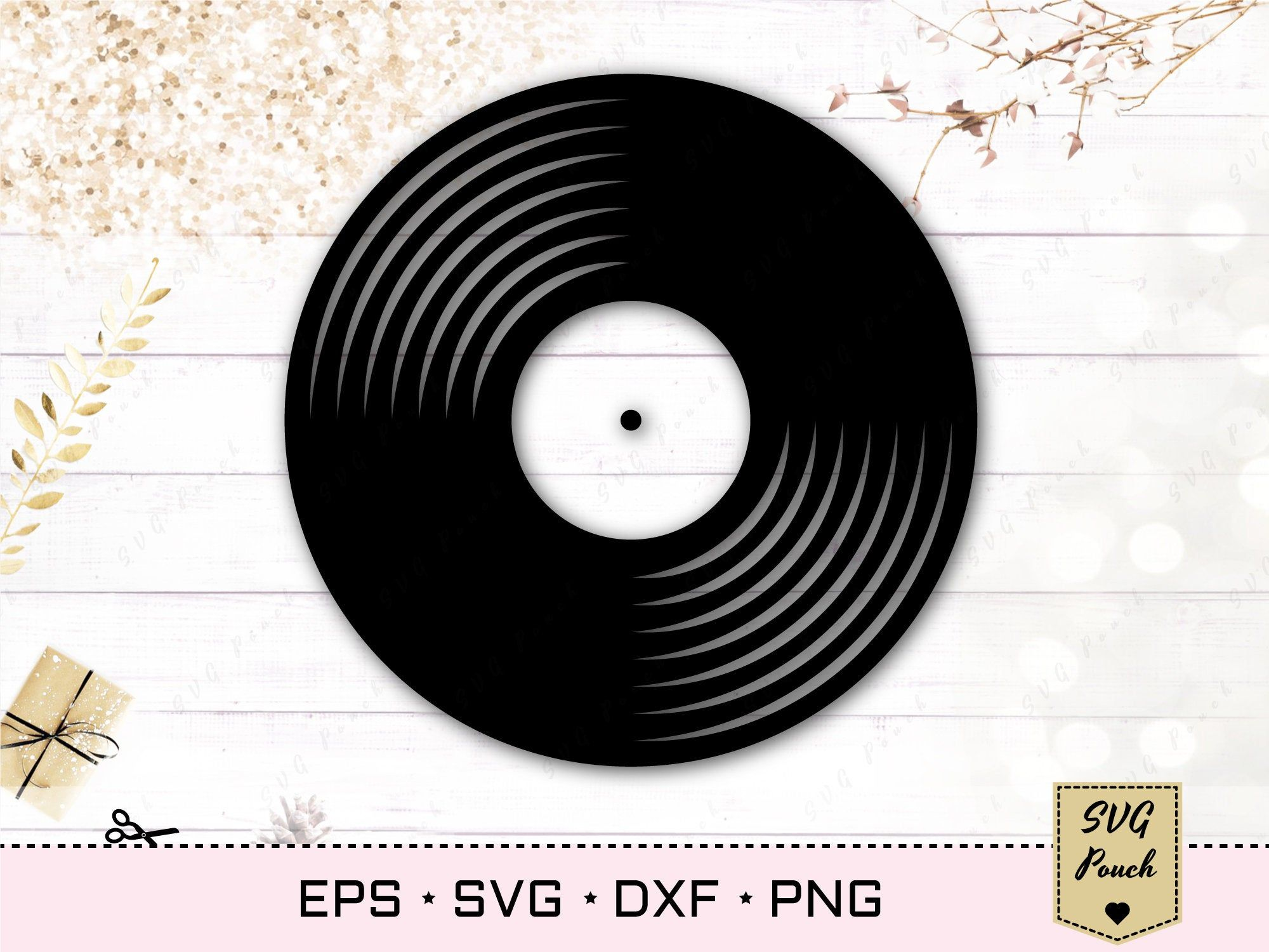 Vinyl Record Svg Digital File Vinyl Record Vector Eps File Vinyl Record Cricut And Silhouette Svg Vinyl Record Printable Clipart Png In 2020 Vinyl Records Vinyl Stencil Decor