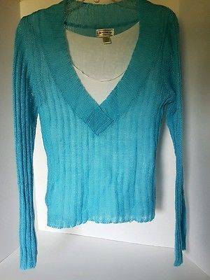 Womens One Step Up Baby Blue Sweater Large Stuff To Buy