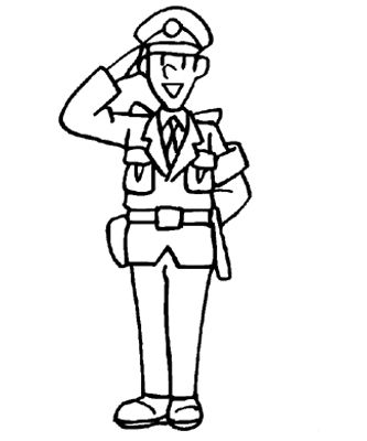 Police Coloring Pages- perfect for my boy from Indonesia who wants ...