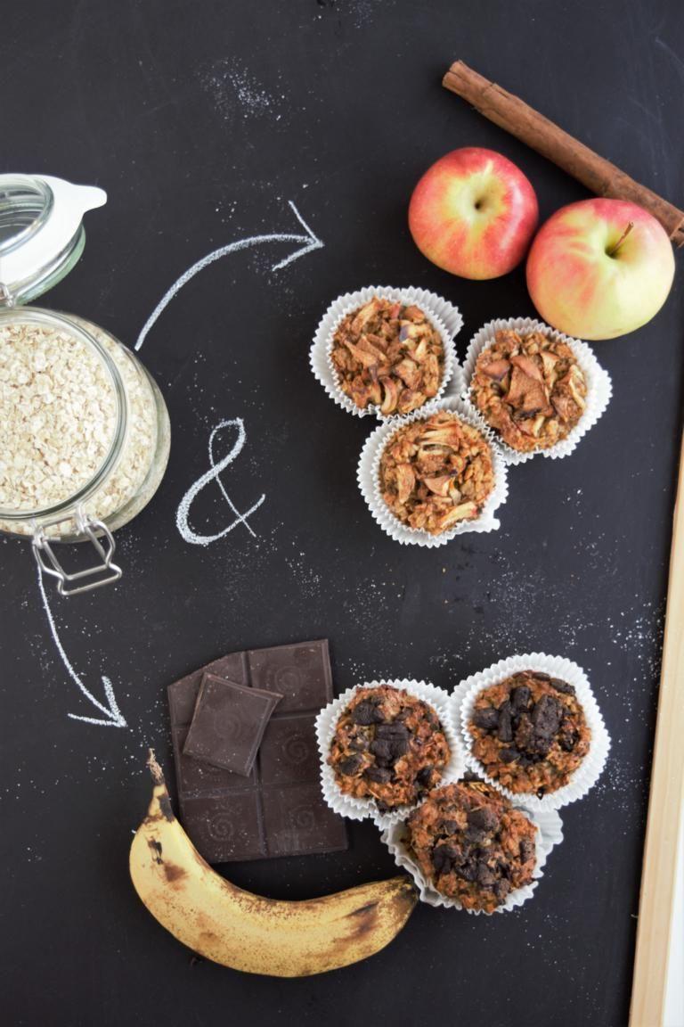 Photo of Breakfast muffins without sugar & flour vegan & gluten free | Chocolate Banana & Ap …