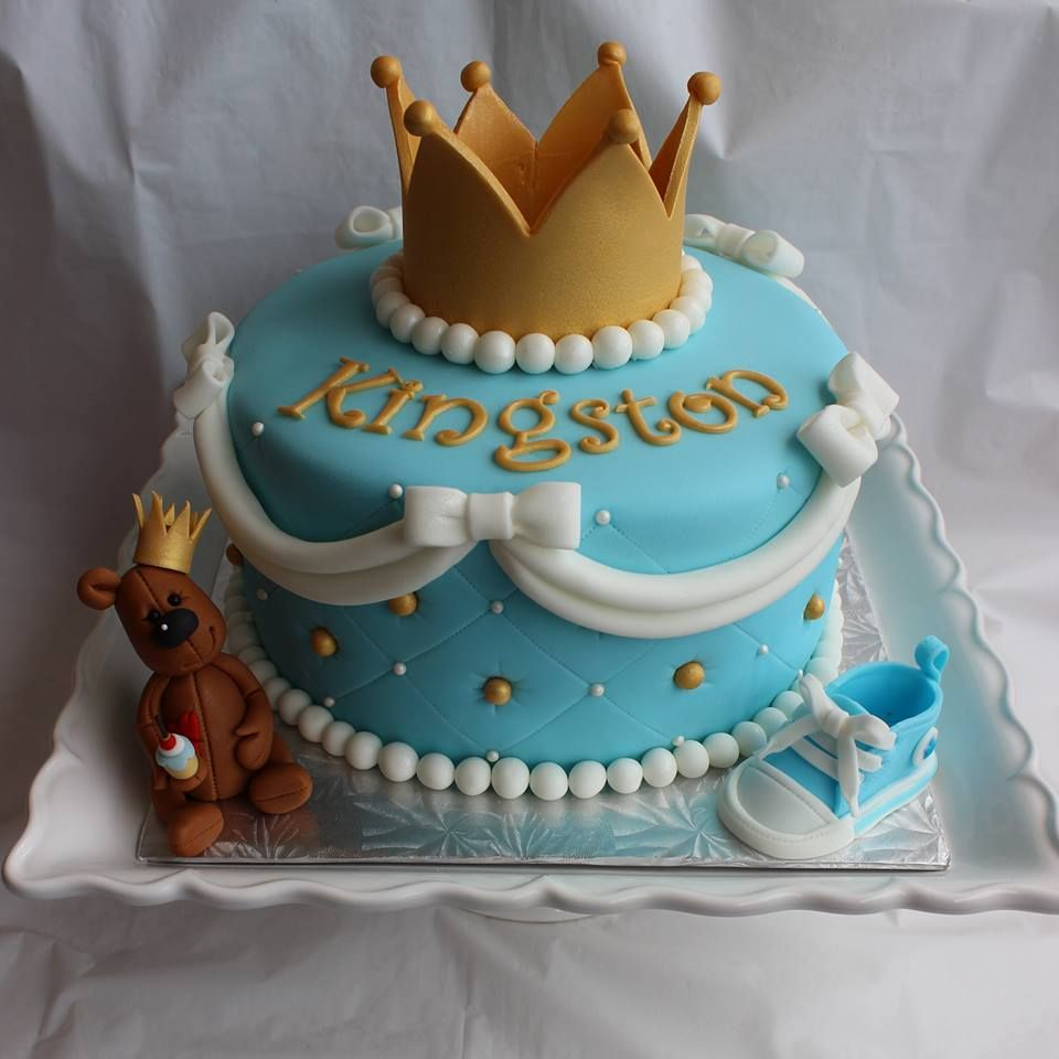 Fit For A Kingbaby Shower Cake | Prince baby shower cake ...
