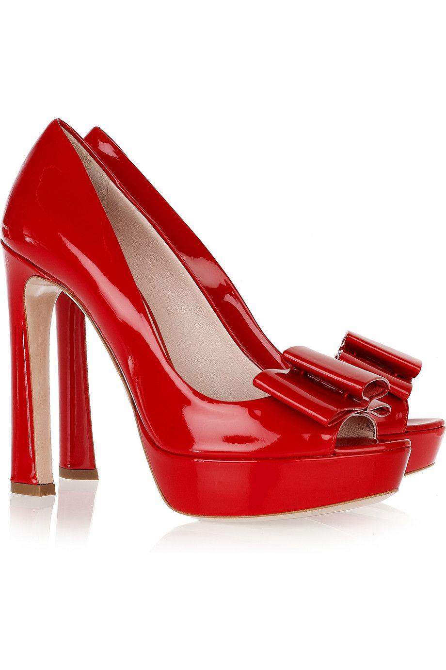Moda Miu Miu Zapatillas Bolsas Zapatos Rojos Rojos Sandalias Tacos rYddwfq7