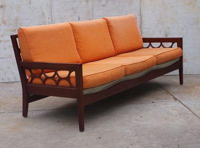 Vintage RETRO 60s DanishParker AVALON LOUNGE 3Seater Couch TEAK