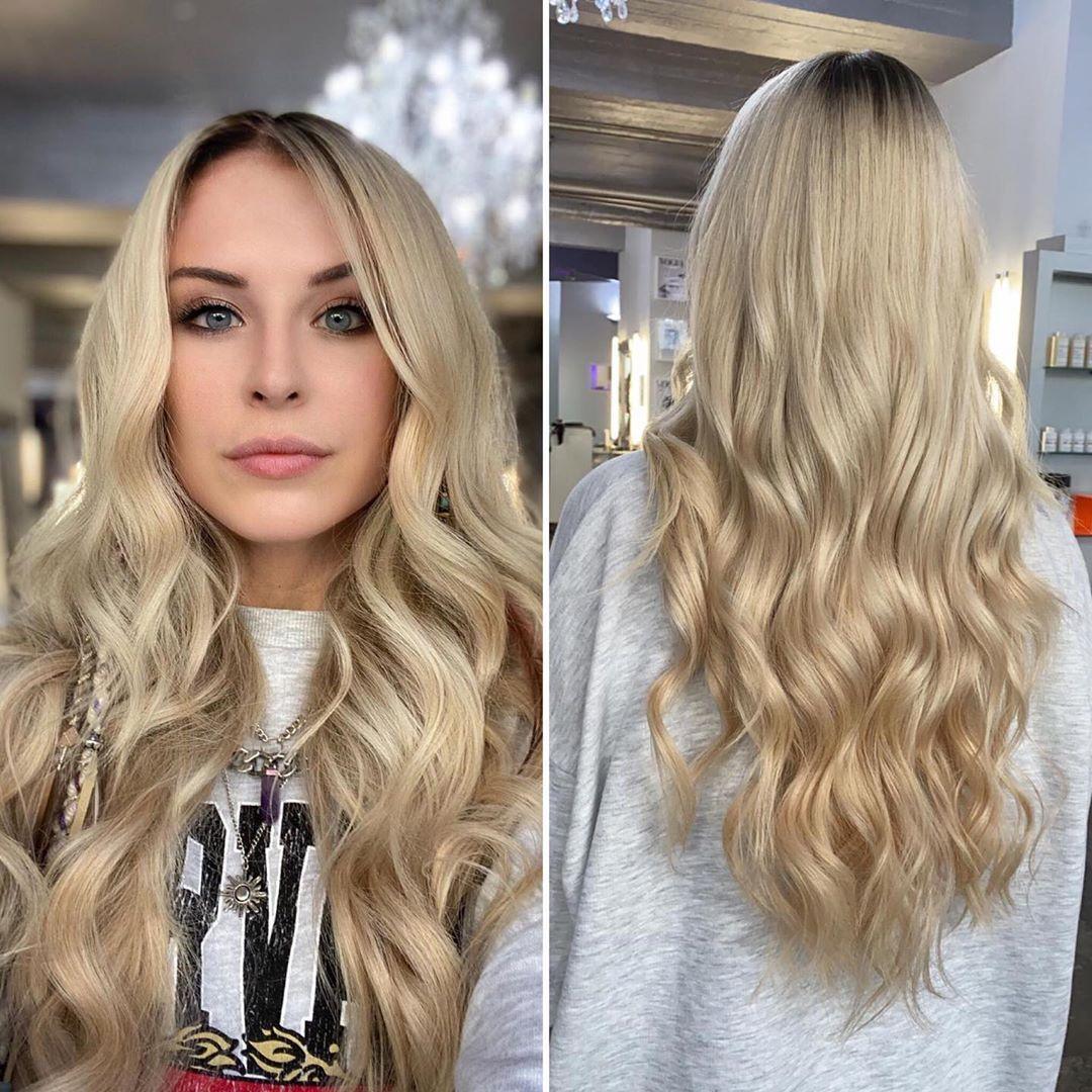 Ergebnis Mit Wow Effekt Youtuberin Bonnytrash Hat Sich Von Ihren Grunen Haaren Verabschiedet Und Bekam Eine Blonde Hairdreams Mahne Blond Promis Instagram