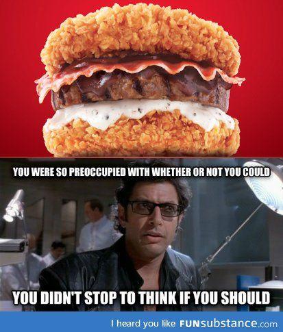 Kfc S New Burger Funsubstance Fast Food Items Funny Memes Dark Humour Memes