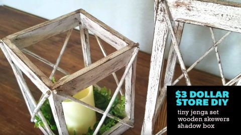 Farmhouse DIY: $3 Dollar Tree Rustic Lantern