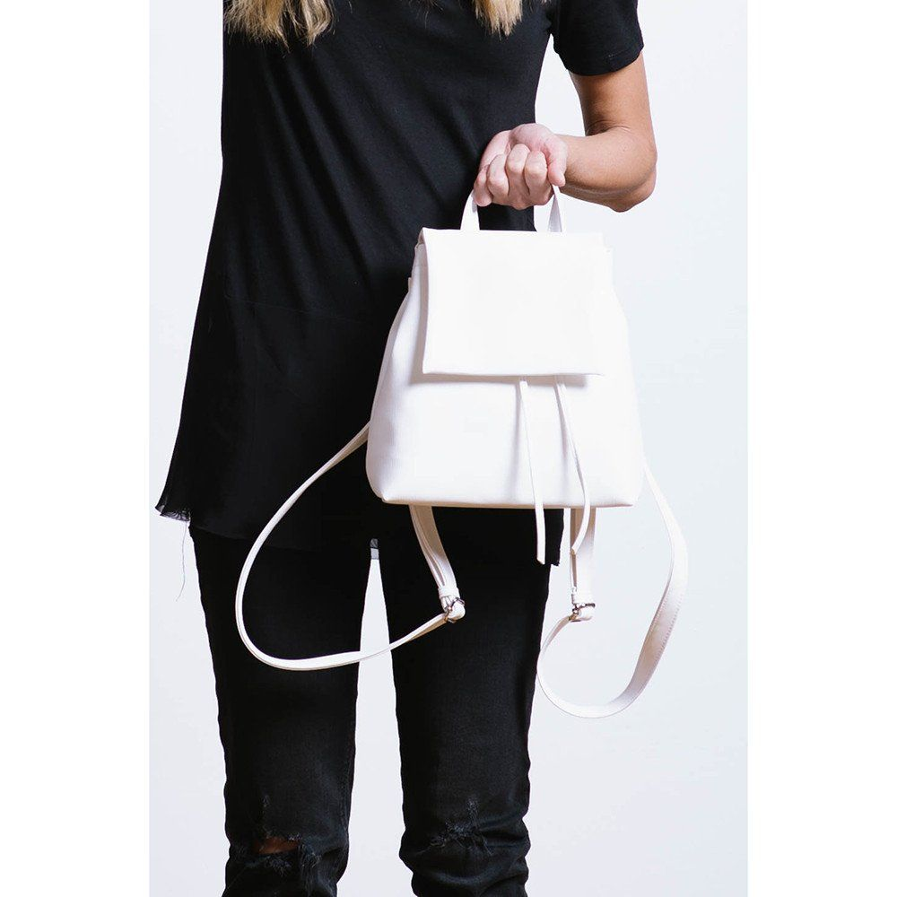 BOOPACKS White drawstring backpack