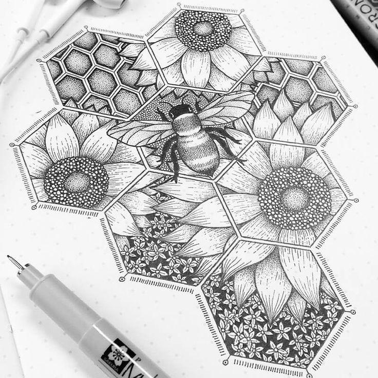 Stippling Drawings In Ink In 2020