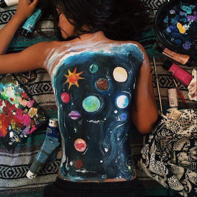 provocative-planet-pics-please.tumblr.com #picture #bodyart #body #planet #art #universe #planets #girl by favim_official https://www.instagram.com/p/BAcxsL4BI_s/