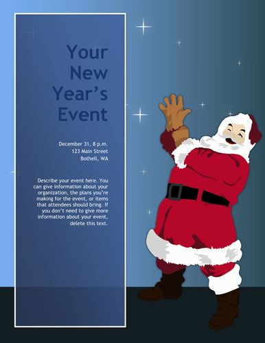 Santa Claus Ho-Ho-Ho Christmas Flyer Template Christmas flyer - free printable christmas flyers templates