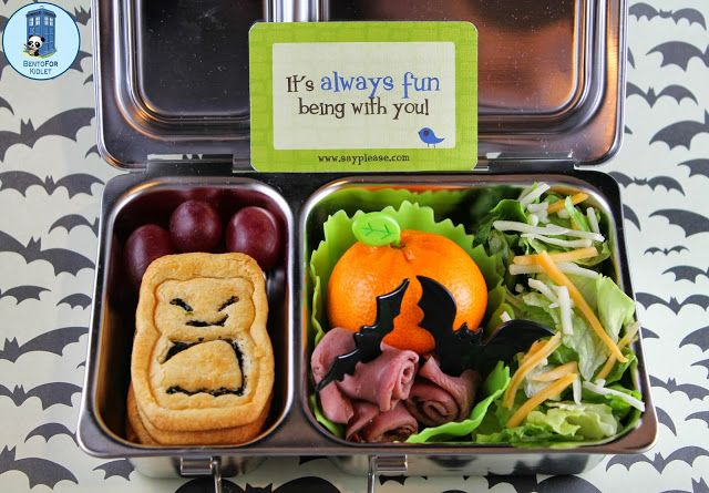 Bento for Kidlet: A lunch that's gone batty!