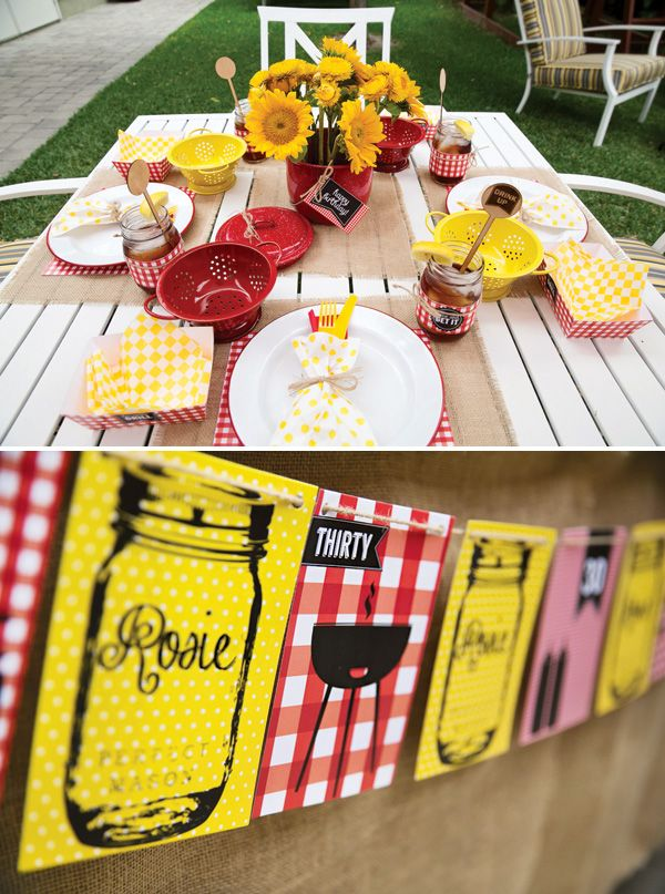 Rustic backyard th birthday barbecue summer grilling