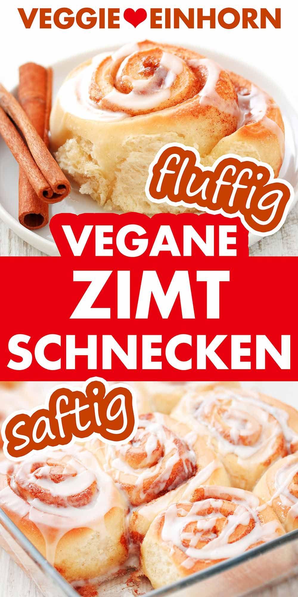Vegane Zimtschnecken (Cinnamon Rolls) - Super fluffig!