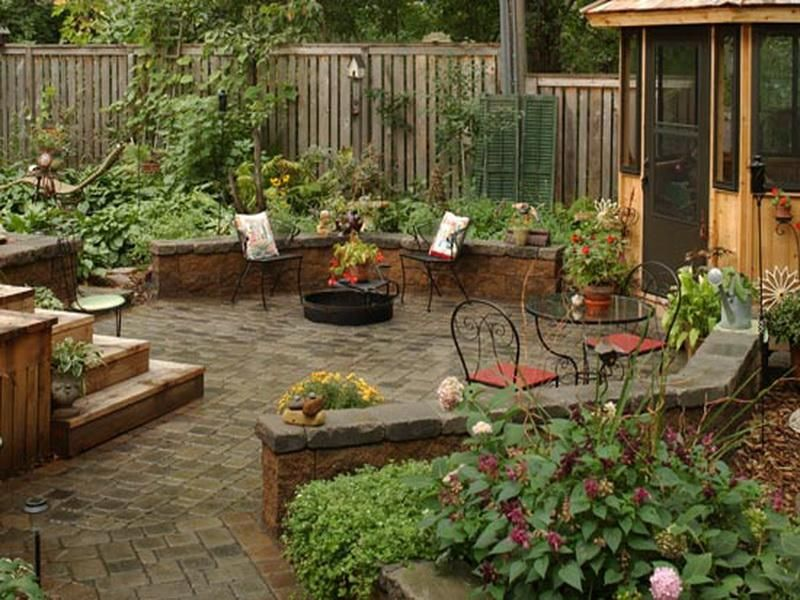 Interesting Backyard Patio Designs Outdoor Patio Designs Included With Barbeque And Fireplace Desig Small Patio Garden Patio Garden Design Relaxing Backyard