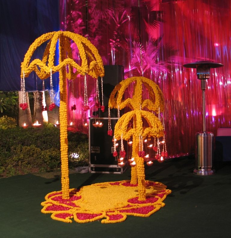 Mehndi Flower Canopy : Candle marigold prop decor pinterest