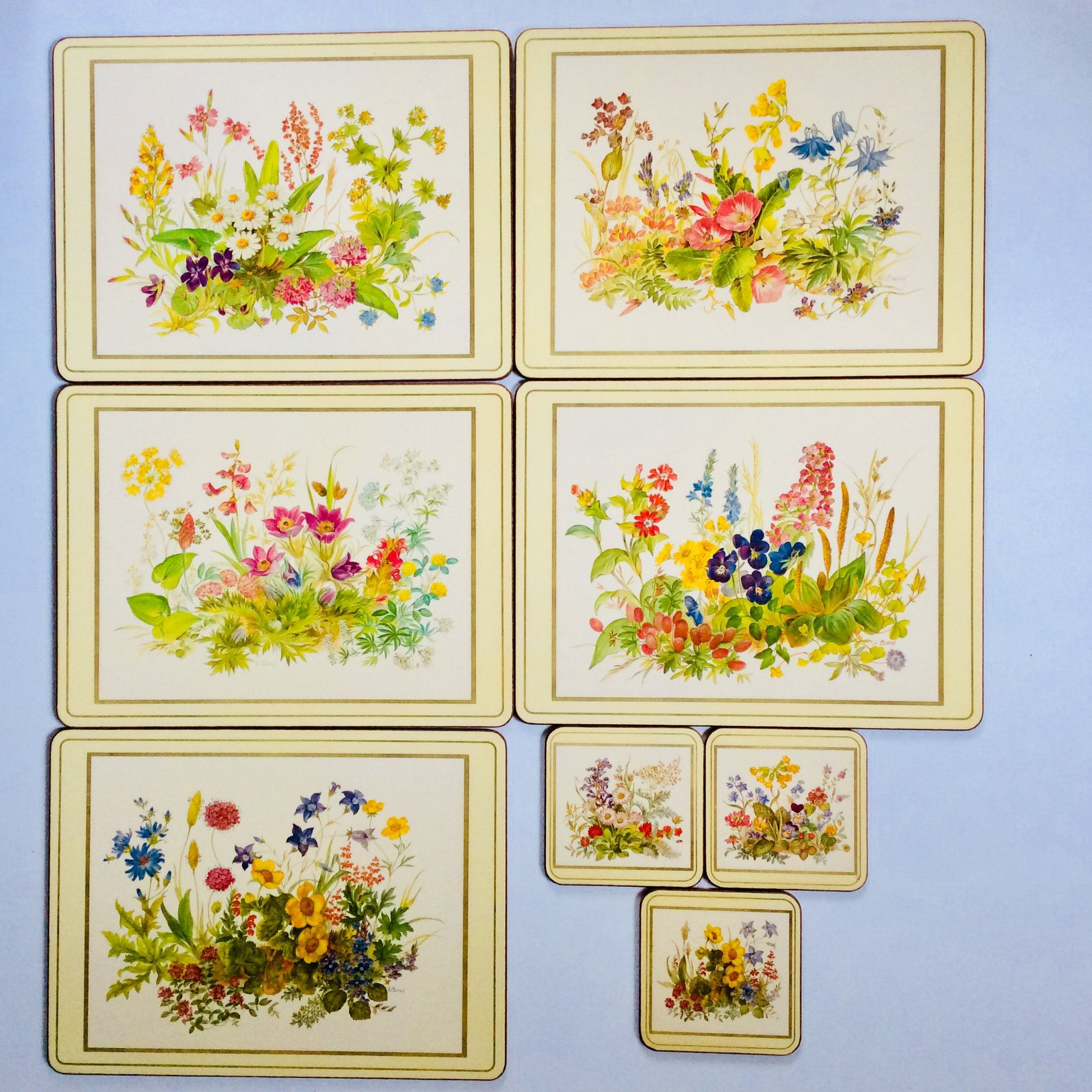 Pimpernel Placemats Set Of 5 Coasters Set Of 3 Table Etsy Unique Hostess Gifts Placemats Vintage Gifts