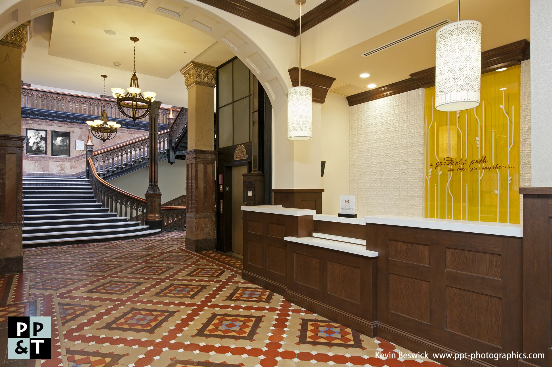 Hilton Garden Inn Milwaukee Downtown new Hotel Lobby with Historic ...
