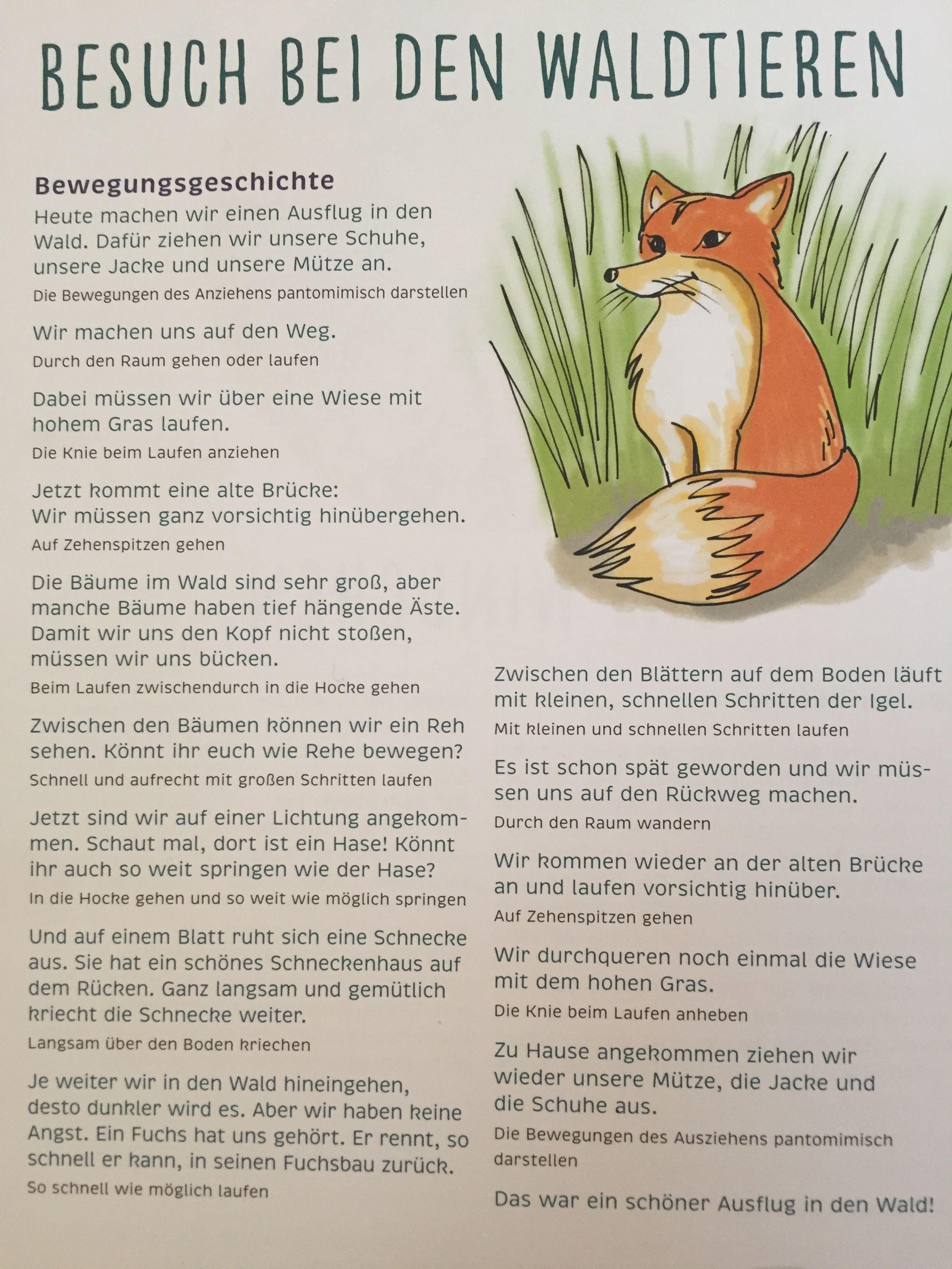 Bewegungsgeschichte Wir gehen in den Wald  | Jzyk ...
