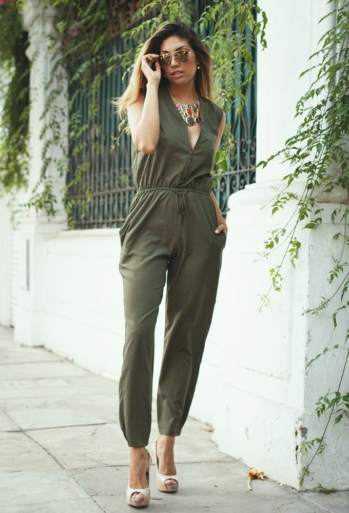 42d30cde12ff Military Green Jumpsuit