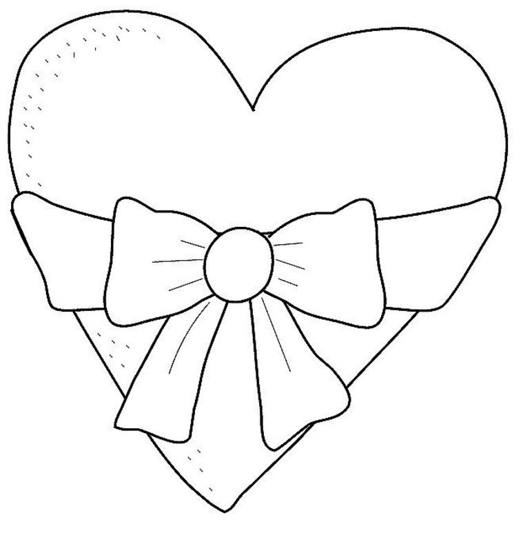Coloring Pages Of Hearts With Arrows Coloring Page Of Heart