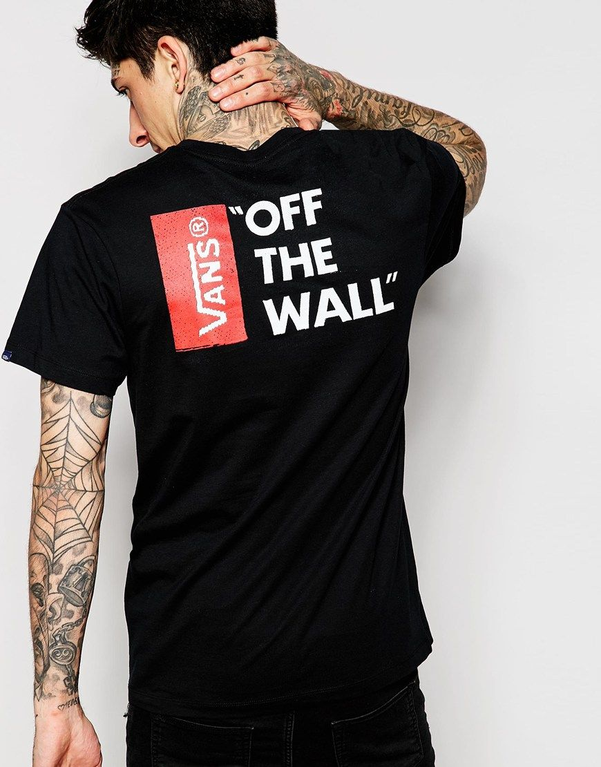 T-shirt by Vans Cotton jersey Crew neck Signature logo print Mini brand tab  to the sleeve Regular fit - true to size Machine wash Cotton Our model  wears a ...