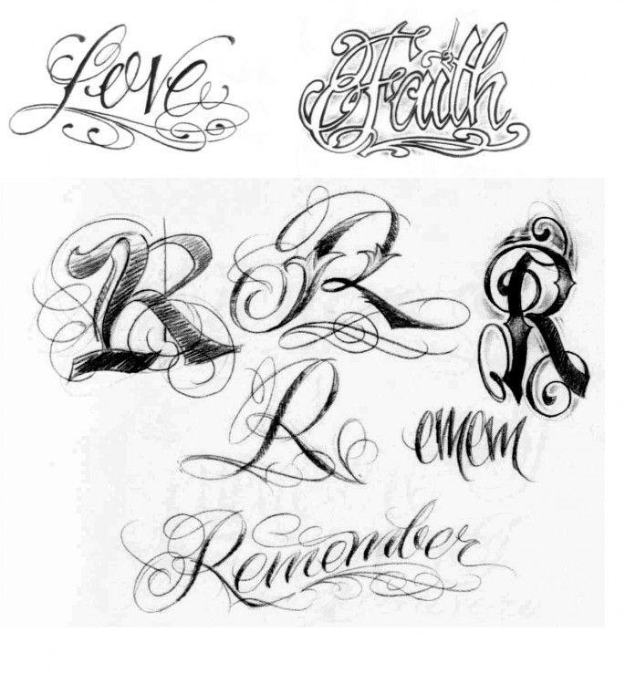 En Letra Gotica Tipo De Abecedario Cursiva Tattoo Lugares Para