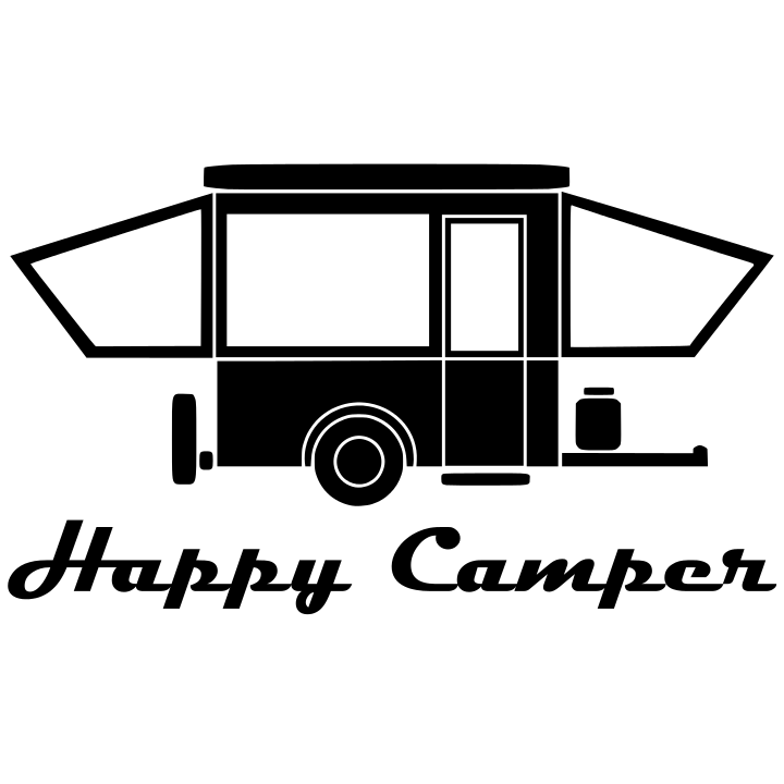 Happy Popup Camper without Windows - Black from Mak'n Decals for $4.50