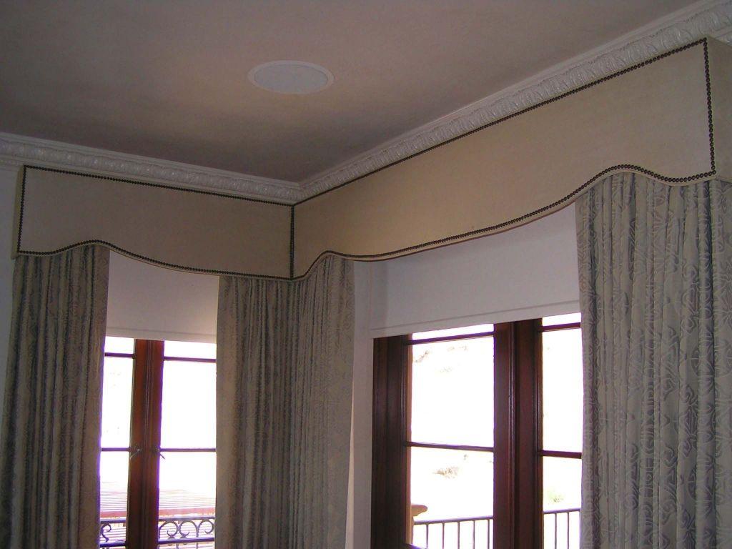 Padded Cornice Box In Corner Window Draperies Curtains Pinterest