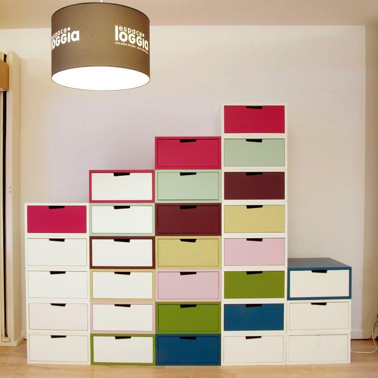 Brick System- storage customizable - Espace Loggia créer son meuble