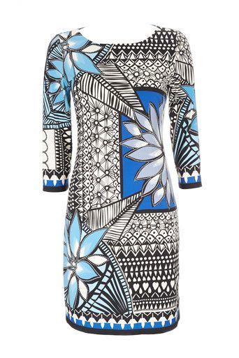 Blue Floral Print Dress by Wallisfashion.com, $74