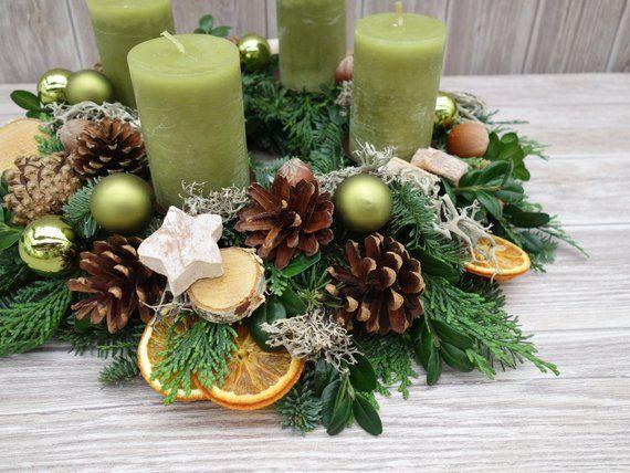 Türkranz Weihnachten Türkränze Weihnachtskranz Natur gold Türdeko Türdekoration Weihnachtsdeko Weihnachtsdekoration frische Tanne
